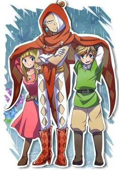 I love how this picture kinda shows how link and Zelda are children because they are and they really don't act like it!