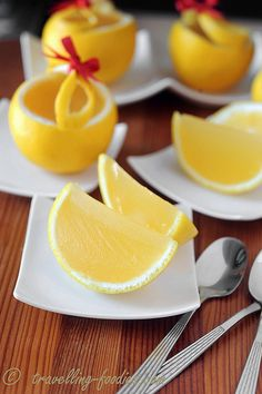 Hyuganatsu Kanten Jelly - scoop out citrus and use as gelatin molds :)