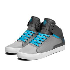 "Supra Society Mid ""Fade"" Shoe   Grey/White"