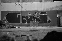 """Graffiti is graffiti"" Bilos in action, shot by Pantelis Nikolakopoulos. Greece 2014"