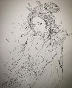 japanese with tattoos Japanese Drawings, Japanese Tattoo Designs, Japanese Tattoo Art, Japanese Sleeve Tattoos, Japanese Art, Samurai Tattoo, Samurai Art, Geisha Tattoo Design, Geisha Tattoos