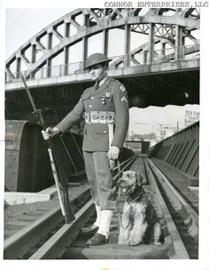 Soldier and his sentry dog, somewhere in New England, 1942.