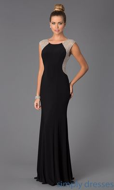 Dresses, Formal, Prom Dresses, Evening Wear: Floor Length Sleeveless Dress #formaldresses