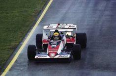Ayrton Senna sulla Toleman nel 1984 (Getty Images)