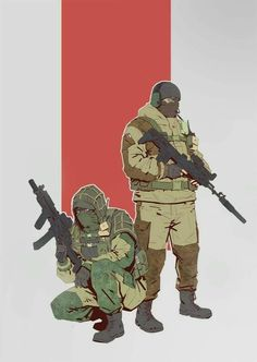 rainbow six siege glaz  and kapkan Tom Clancy's Rainbow Six, Rainbow Six Siege Art, Rainbow 6 Seige, Anime Military, Military Art, Call Of Duty, Cyberpunk, Special Forces, Character Art