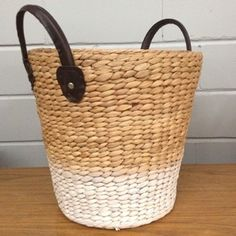 White Ombré Storage Basket by MILKCART