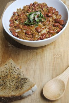 Vegan chili is the perfect comfort food to enjoy on a quiet evening.