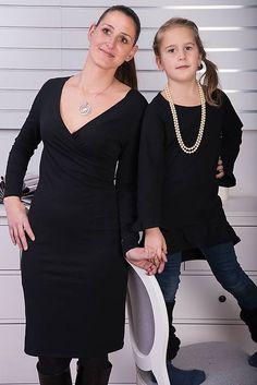 Čierna tunika s volánom pre malú elegantnú dámu #detskamoda#jedinecnesaty#handmade#originalne#slovakia#slovenskydizajn#móda#šaty#original#fashion#dress#modre#ornamental#stripe#dresses#vyrobenenaslovensku#children#fashion#rucnemalovane Tunic