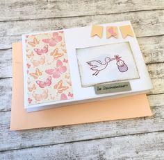 Glückwunschkarten - Glückwunschkarte zur SCHWANGERSCHAFT Storch 2 - ein Designerstück von POMMPLA bei DaWanda