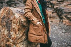 Noel Coat in Camel | ROOLEE