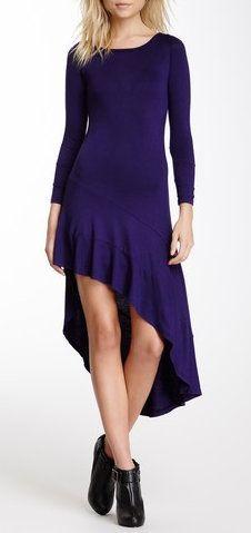 Asymmetrical Hi-Lo Skater Dress