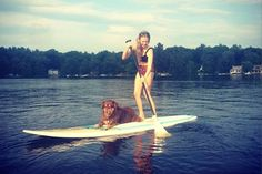 Amanda Seyfried SUPs With Her PUP (Sorry, Had To) | The actress took her beloved pup Finn out for a paddleboarding spin. #SELFmagazine