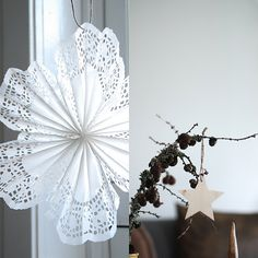 Fanned paper doily!