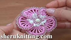Learn how to crochet flower with our video library. The crochet flower patterns are great for your crochet projects. These handmade crochet flowers will be inspiring you for years. Freeform Crochet, Bead Crochet, Free Crochet, Crochet Necklace, Making A Bouquet, Flower Making, Beaded Flowers, Crochet Flowers, Beading Tutorials