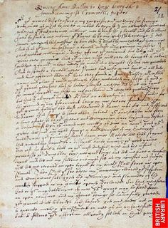 Page 1 of Anne Boleyn's Letter to King Henry VIII from the Tower of London, 6 May 1536.
