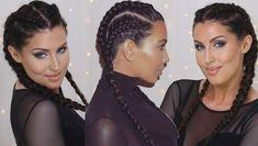 How To: Cornrows - Kim Kardashian Double Dutch Braids