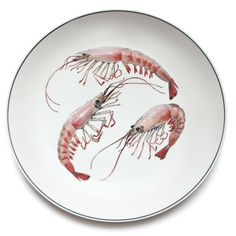 Jersey Pottery - Large Round Platter - Shrimp