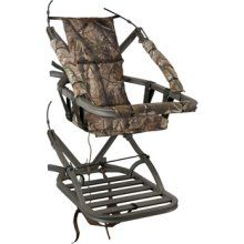 I reckon if I had this tree stand, I'd never leave the tree. I'd get divorced and just marry my tree. Start a new life. Things would be great. Oh! There's a deer!