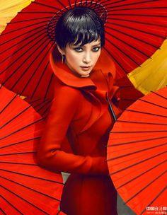 **geelifashionista: Li Bingbing by Chen Man for Vogue China