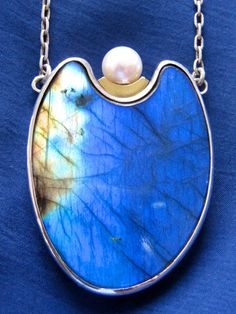 Olaf Nybo of Copenhagen: labradorite, perl, sterling silver and gold