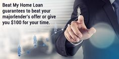 Beat My Home Loan guarantees to beat your major lender's offer or give you $100 for your time. #Beatmyhomeloan