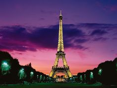 The Eiffel Tower is an iron lattice tower located on the Champ de Mars in Paris, France. It was named after the engineer Alexandre Gustave Eiffel, whose company designed and built the tower. France Wallpaper, Paris Wallpaper, Wallpaper Desktop, Team Wallpaper, Travel Wallpaper, Wallpaper Gallery, Purple Wallpaper, Scenery Wallpaper, Wallpaper Pictures