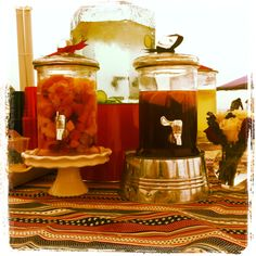 Fruit infused water and iced tea!
