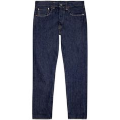 Levi's 501 Original straight-leg jeans ($105) ❤ liked on Polyvore featuring men's fashion, men's clothing, men's jeans, mens straight leg jeans and levi mens jeans