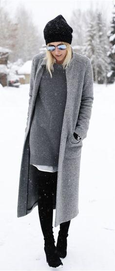 Chic Grey Coat