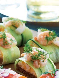 Recipe : 海老ときゅうり、卵サラダのスムシ