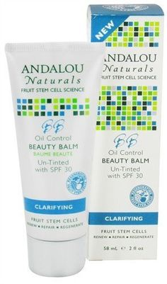 Oil Control Beauty Balm Un-Tinted (with SPF 30) 2 Ounces by Andalou Naturals. $13.07. 2 Ounces Liquid. Suitable for Vegetarians. Gluten Free. Serving Size:. Andalou Naturals Fruit Stem Cell Science renews skin at the cellular level, blending nature and knowledge for visible Clarifying results. This ultimate 3 in 1 beauty balm blends Fruit Stem Cell Complex, mattifying hydration, and broad spectrum protection to speed cellular renewal, diminish pores and excess o...