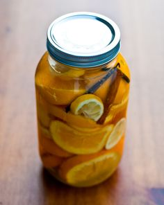 Vin D'Orange is a homemade preparation of wine infused with oranges, plus a few other delicious ingredients.