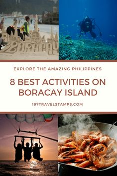 Boracay is perhaps the most beautiful and most famous of the 7,641 Philippine islands. Here you can find everything you will imagine when you think of paradise: incredible white beaches surrounded by blue waters, perfect weather conditions and breath-taking sunsets. But you will certainly not get bored on the beach with these 8 best activities in #Boracay #paradise #activities #philippines #asia #travel