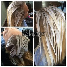 Balayage hair painting in process... No foils!! A great way to achieve natural hilights... Hair by stylist Shannon Keel aka The Hair Doo Chick in Madison, fl