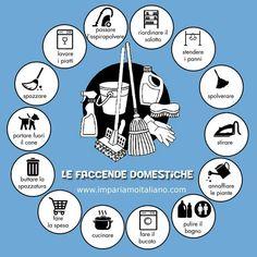 Le faccende domestiche. Perfeziona il tuo italiano con www.impariamoitaliano.com