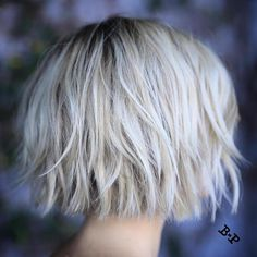 Short Blonde Bob With Layers