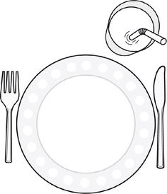 Color in printable placemat to help children set the table Healthy Food Activities For Preschool, Activities For Kids, Food Crafts, French Food, Group Meals, Colouring Pages, Kids Education, Ramadan, Art Lessons