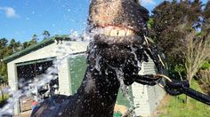 The winner of this week's summer holidays themed competition is Karine Dunn from Kumeu with this excellent summer photo of Handsome playing with the water to cool off on a beautiful summer's day!