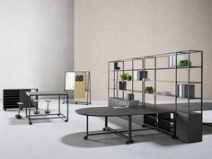 Gensler has teamed up with Italian office furniture maker Fantoni to create Atelier modular office furniture collection.