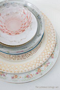 Vintage Dishes @ TheLetteredCottage.net