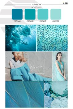 Top ColorWall™ Colors of All Time | Ocean – eColorWorld Light Turquoise, Turquoise Color, Season Colors, Color Trends, Color Combinations, Hue, Top Colour, All About Time, Ocean