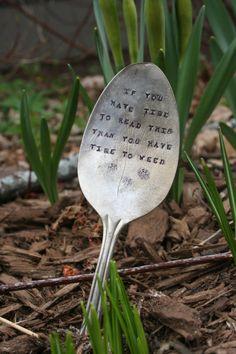 vintage spoon marker - so fun!