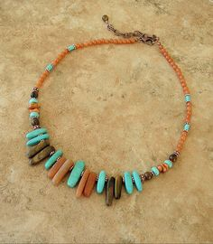 Boho Necklace Southwest Jewelry Bohemian Turquoise by BohoStyleMe