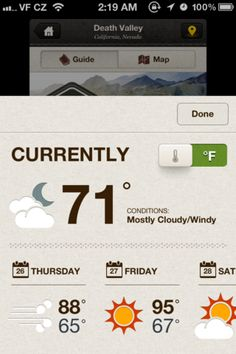 National Parks weather