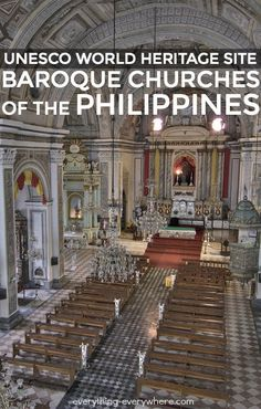 The Church of San Agustin in Manila is the principal property in the Baroque Churches of the Philippines World Heritage Site. San Agustin is the oldest church in the Philippines.