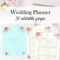 editable wedding planner template wedding planning printables planner printable inserts bride organization letter size instant download - Makeup Gift Certificate Template