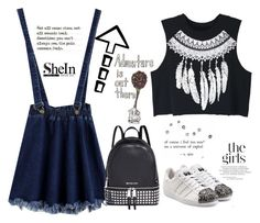 """""""Adventure is out there"""" by jelena-topic5 ❤ liked on Polyvore featuring WithChic, adidas Originals and Michael Kors"""