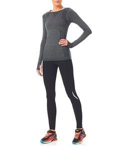 c28070478ff5d Sweaty Betty - Terrain Merino LS Seamless Top - grey Long Sleeve Gym Tops