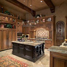 Mediterranean Kitchen pantry door Design Ideas, Pictures, Remodel and Decor