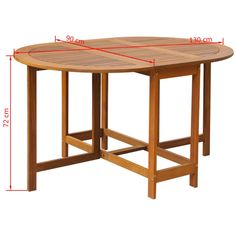 This wooden drop leaf dining table, designed with clean and simple lines, is a great selection for your garden, patio, and terrace. The simple elegance of this dining table will make everyday dinners special. This dining table is made of strong acacia wood, which makes it very stable and durable. In addition, the smooth surface with a natural oil finish makes it easy to clean and weatherproof. This drop leaf table can be easily folded away when not in use. Material: Acacia wood with a natural oi Solid Wood Dining Table, Outdoor Dining Set, Dining Table Chairs, Patio Table, Patio Dining, Into The Woods, Drop Leaf Table, Wood Patio, Garden Table